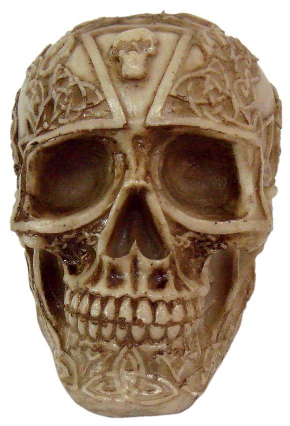 Caveira Crânio Tribal Pequeno.