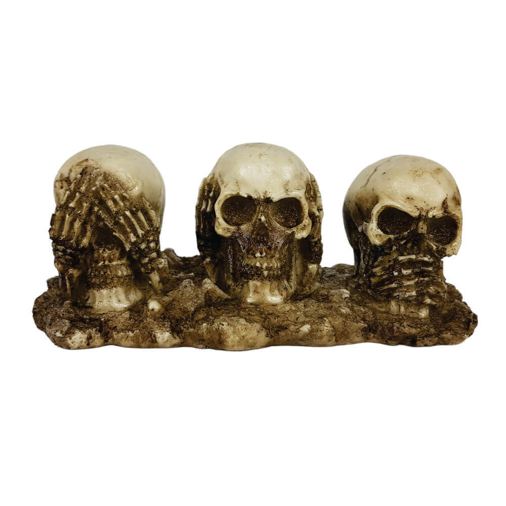 Caveira Crânio Trio Cego Surdo e Mudo base.