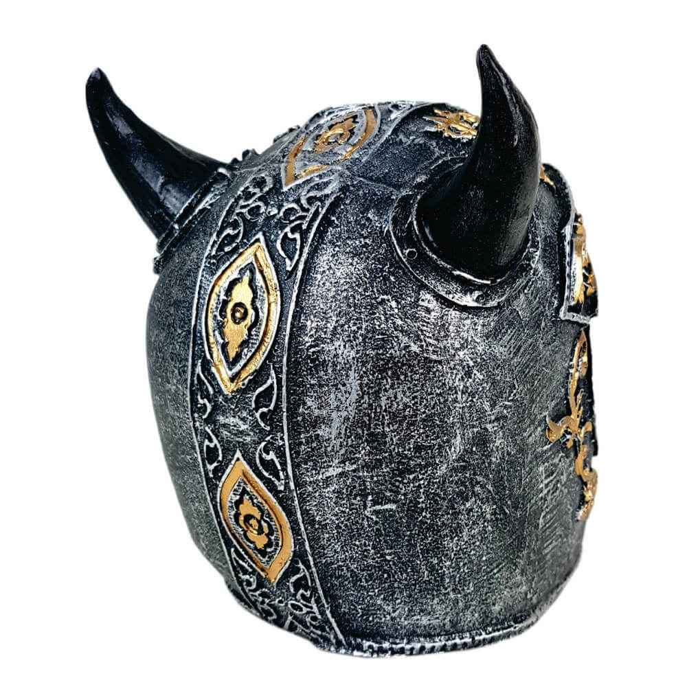 Crânio Caveira Soldado Medieval Chifre.