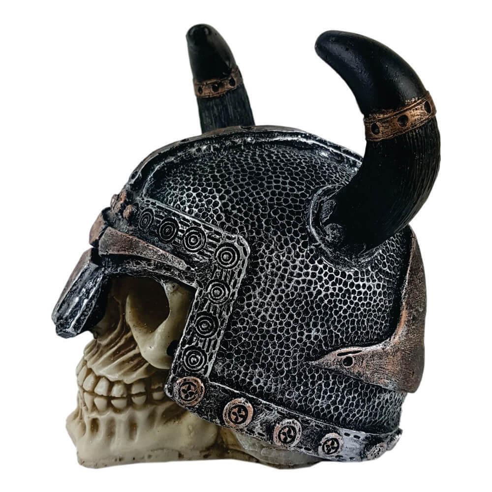 Crânio Caveira Soldado Medieval Chifre grande.