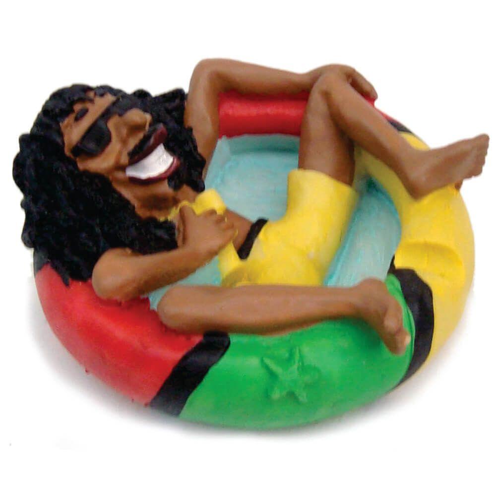 Cinzeiro Bob Marley na Bóia decoração