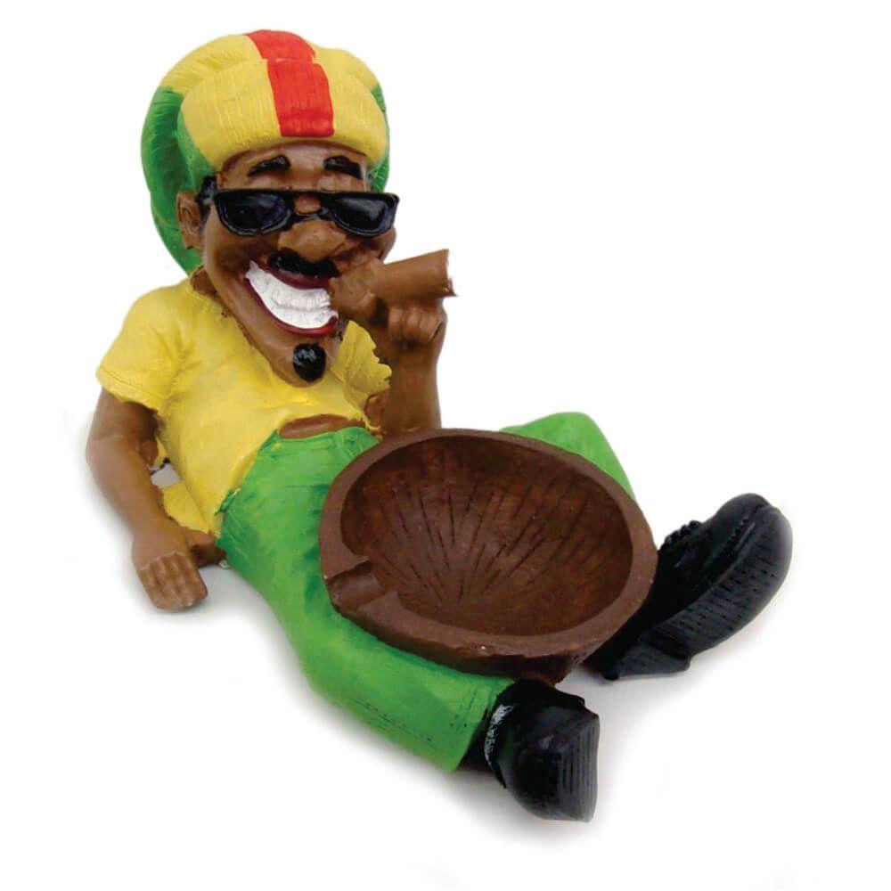Cinzeiro Bob Marley relaxado no Coco Deitado