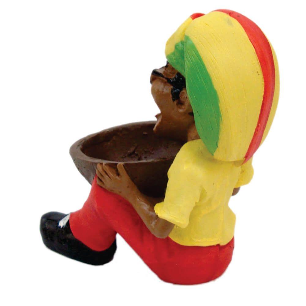 Cinzeiro Bob Marley reggae Sentado.