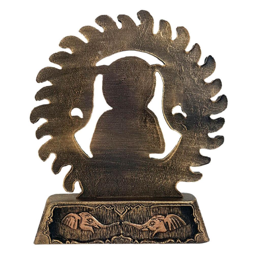 Buda Circulo fogo Portal estátua decoração.
