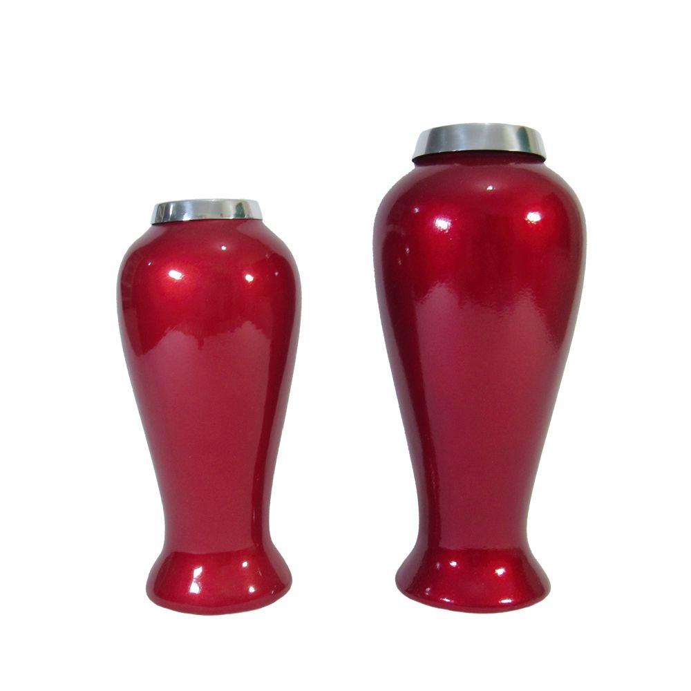 Conjunto de Vazos Portugueses Vermelhos