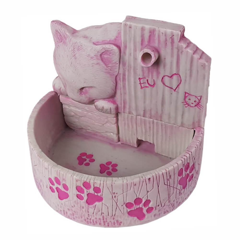 Bebedouro fonte para gatos prime Rosa 110 V ou 220 V.