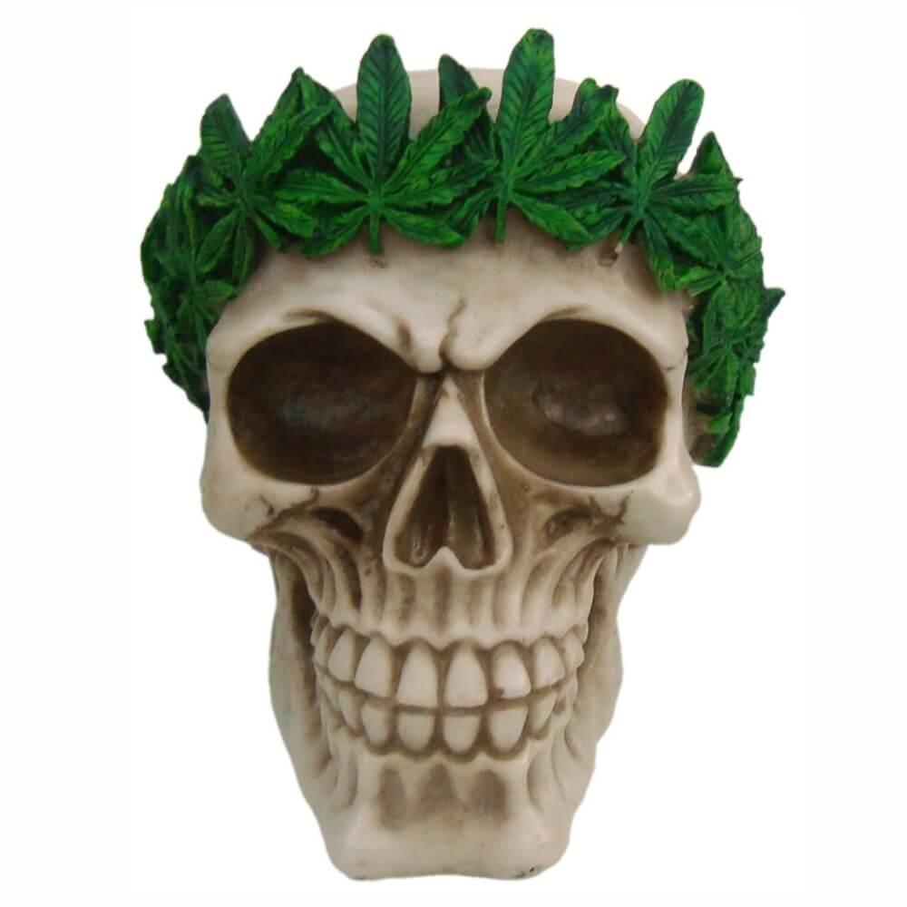 Crânio caveira Cannabis.