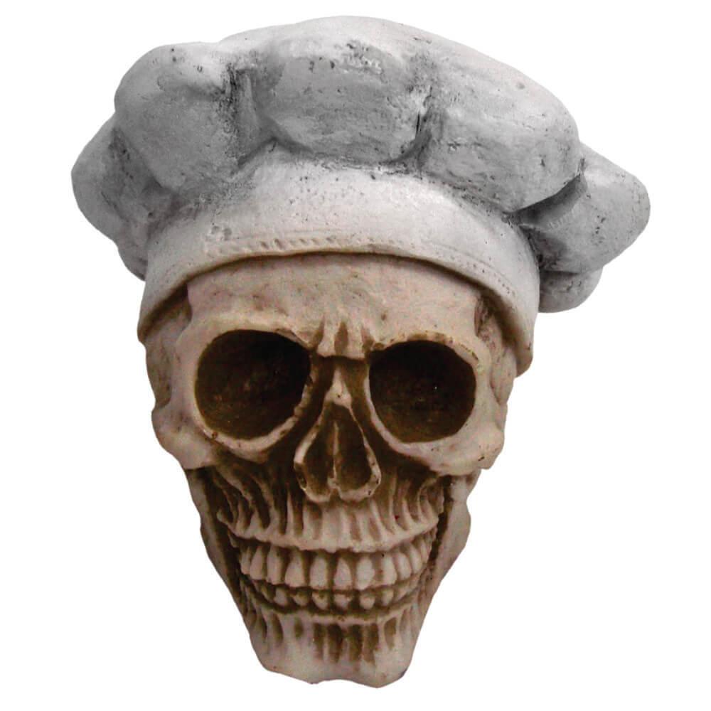 Crânio Caveira Chef de Cozinha Cozinheiro Pequeno.