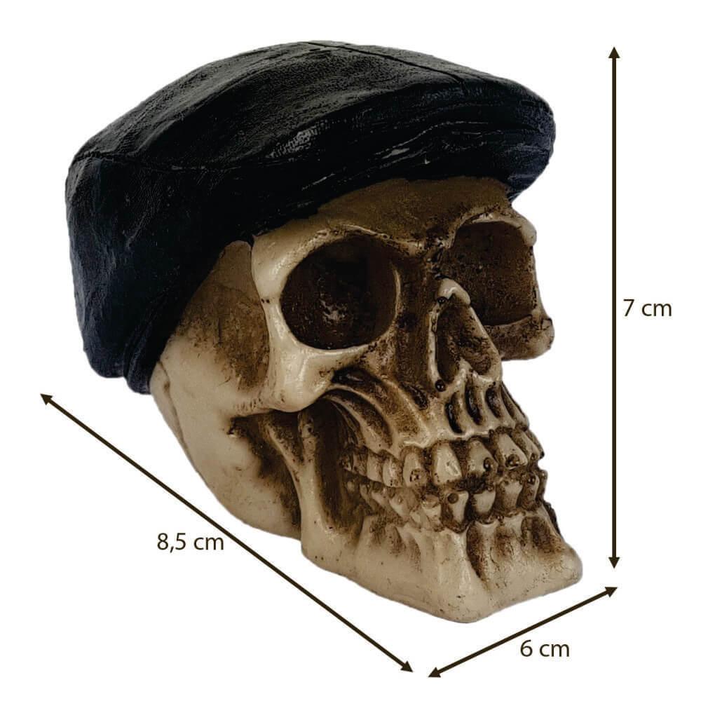 Caveira Crânio com boina Pequeno.