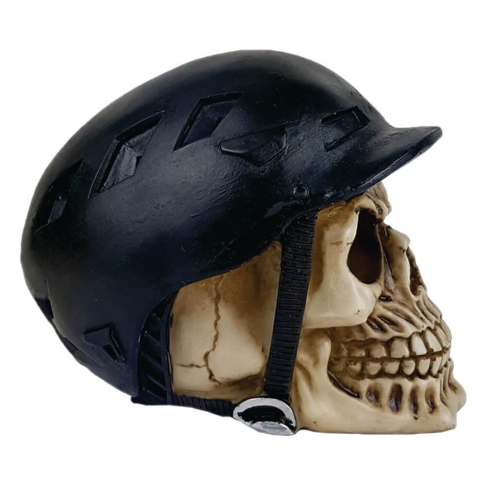 Crânio caveira capacete Bike Ciclista.