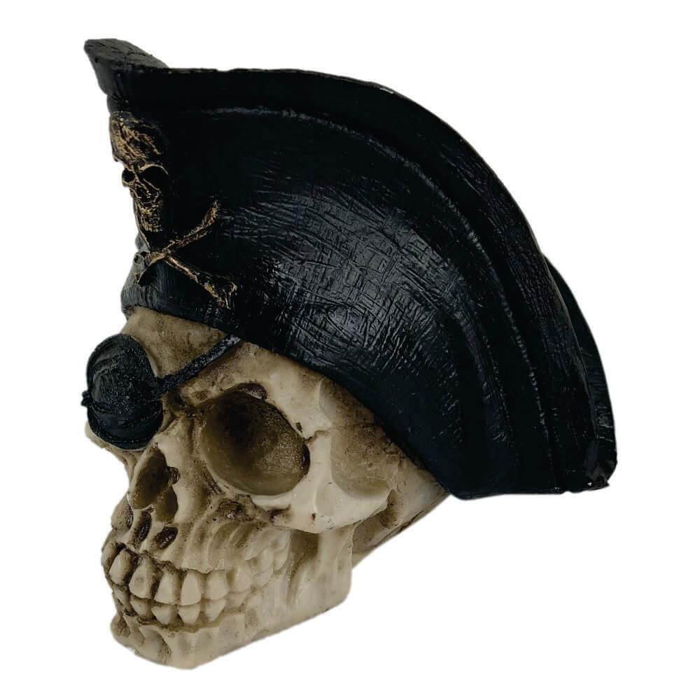 Crânio Caveira Capitão Chapéu de Pirata .