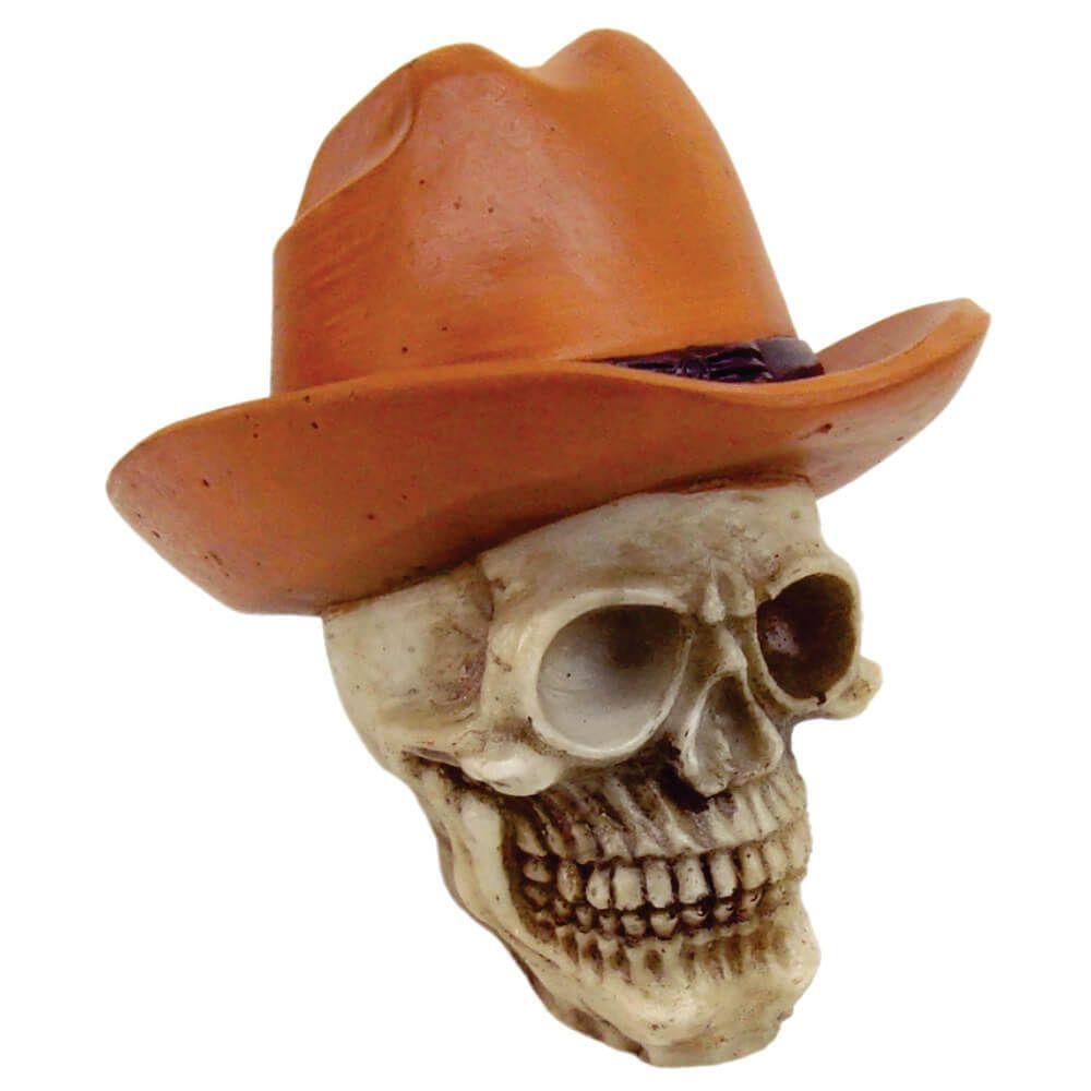 Crânio Caveira Cowboy Vaqueiro peão de rodeio.