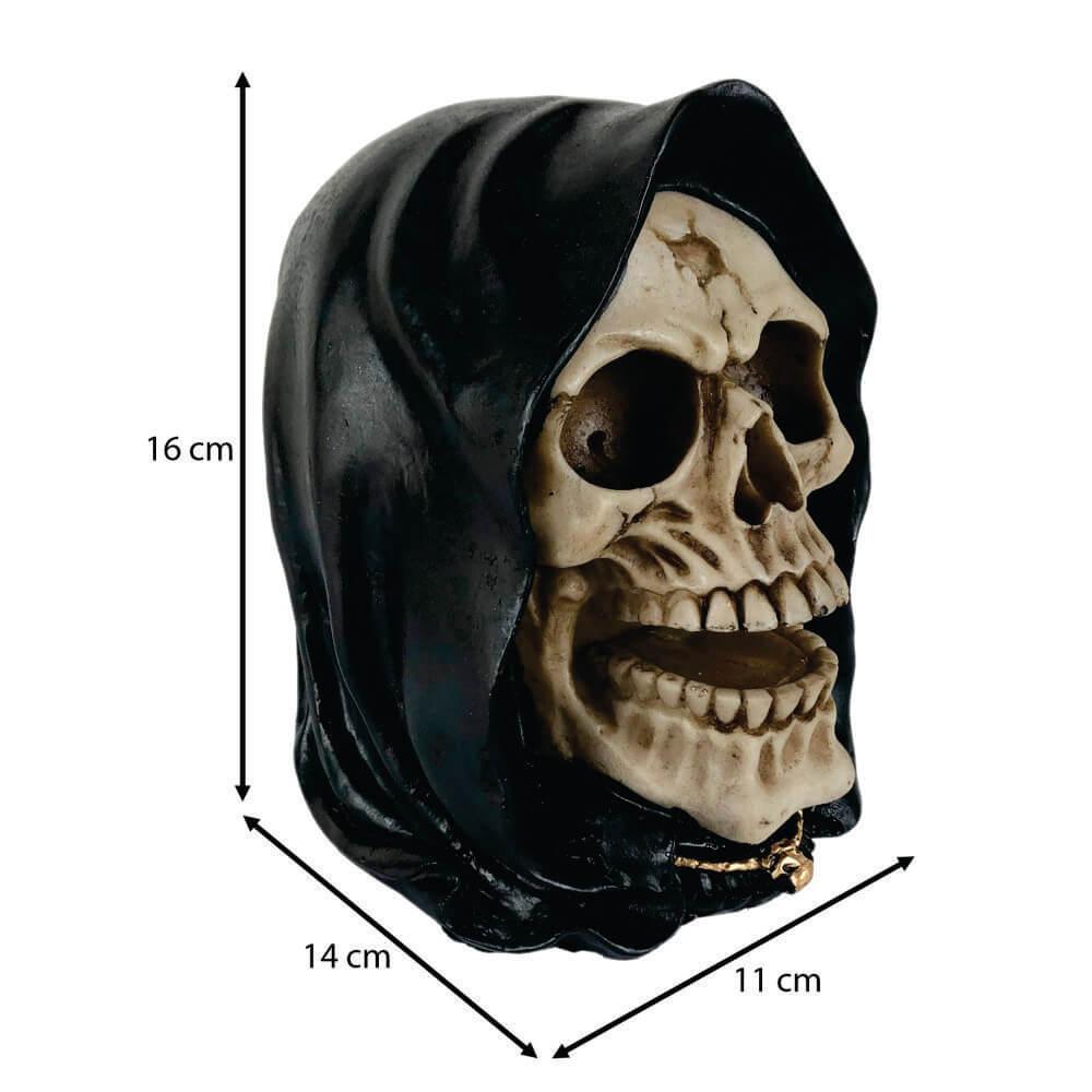 Crânio Caveira Face da Morte Ceifador.