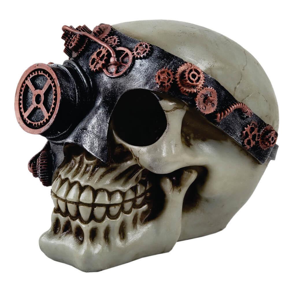 Crânio Caveira Monóculo decoração.