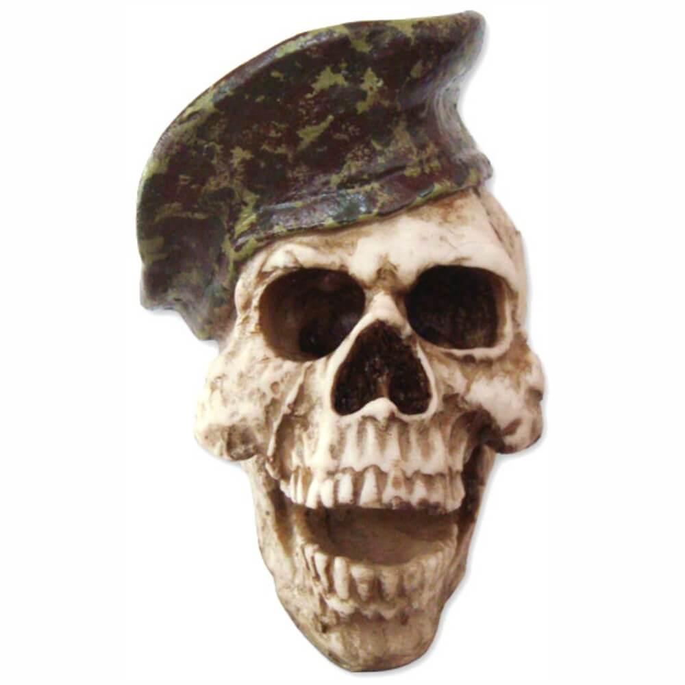 Crânio caveira Soldado Boina exército.