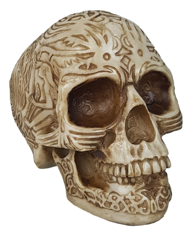 Crânio Caveira Tribal Pequeno .