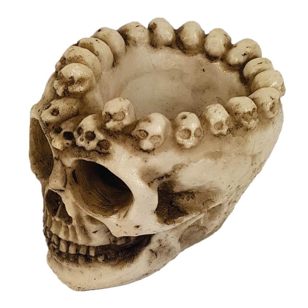 Crânio cinzeiro caveirinhas.