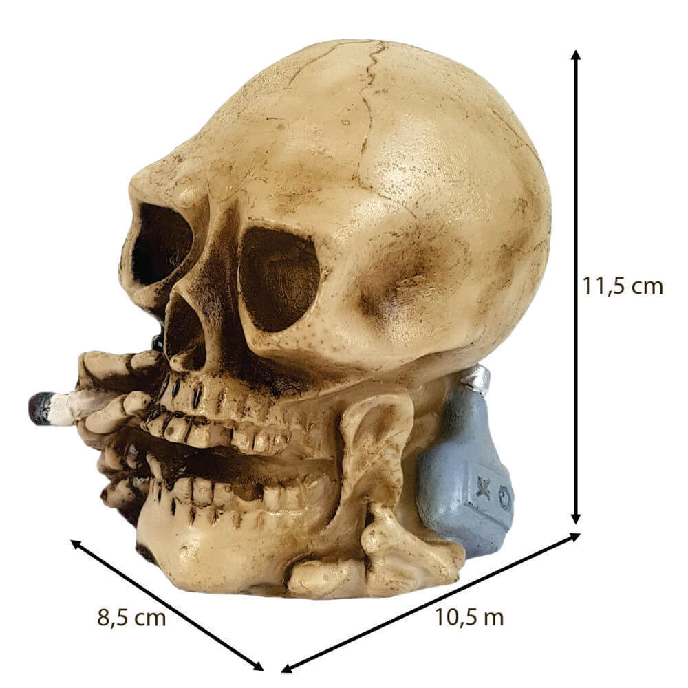 Crânio Caveira Fumante Cigarro Fumando.