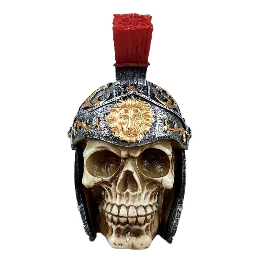 Crânio Soldado Romano Guerreiro com capacete.
