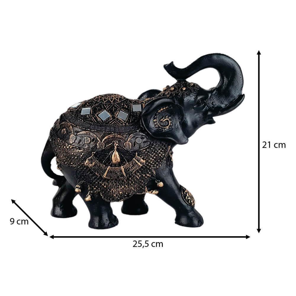 Elefante da sorte grande estilizado.