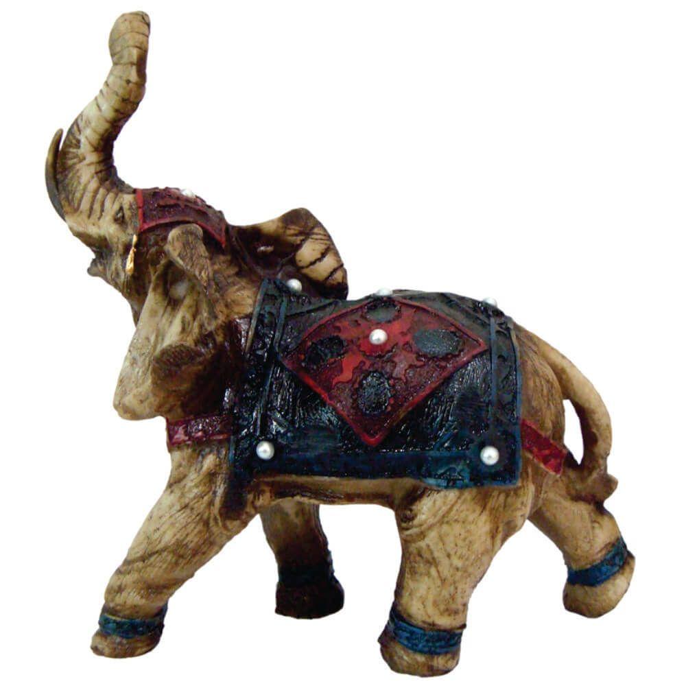Estátua Elefante Indiano decorado.