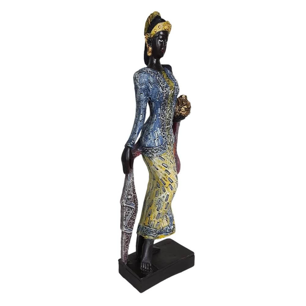 Enfeite Africana dançarina decoração gigante.