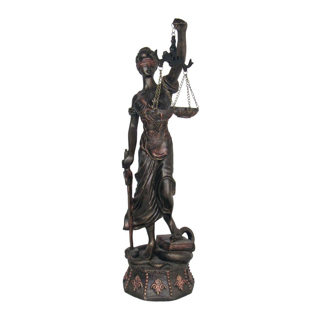 Estátua Deusa Da Justiça Balança Enfeite  Decorativa Grande