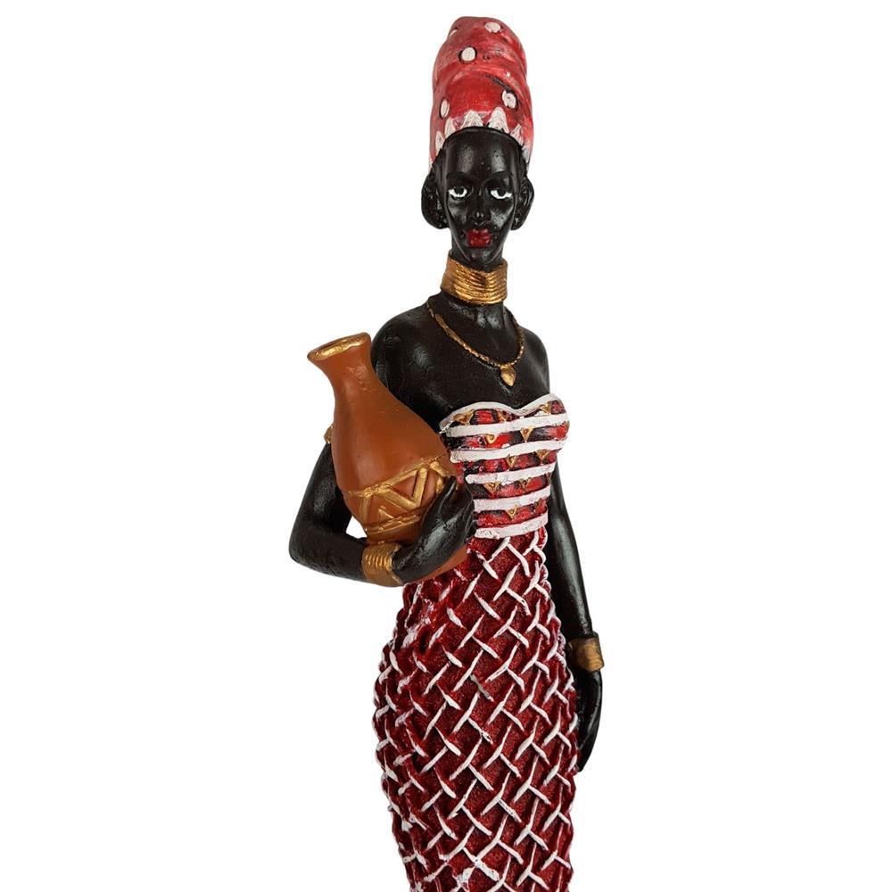 Escultura Africana Vestido longo decorativa