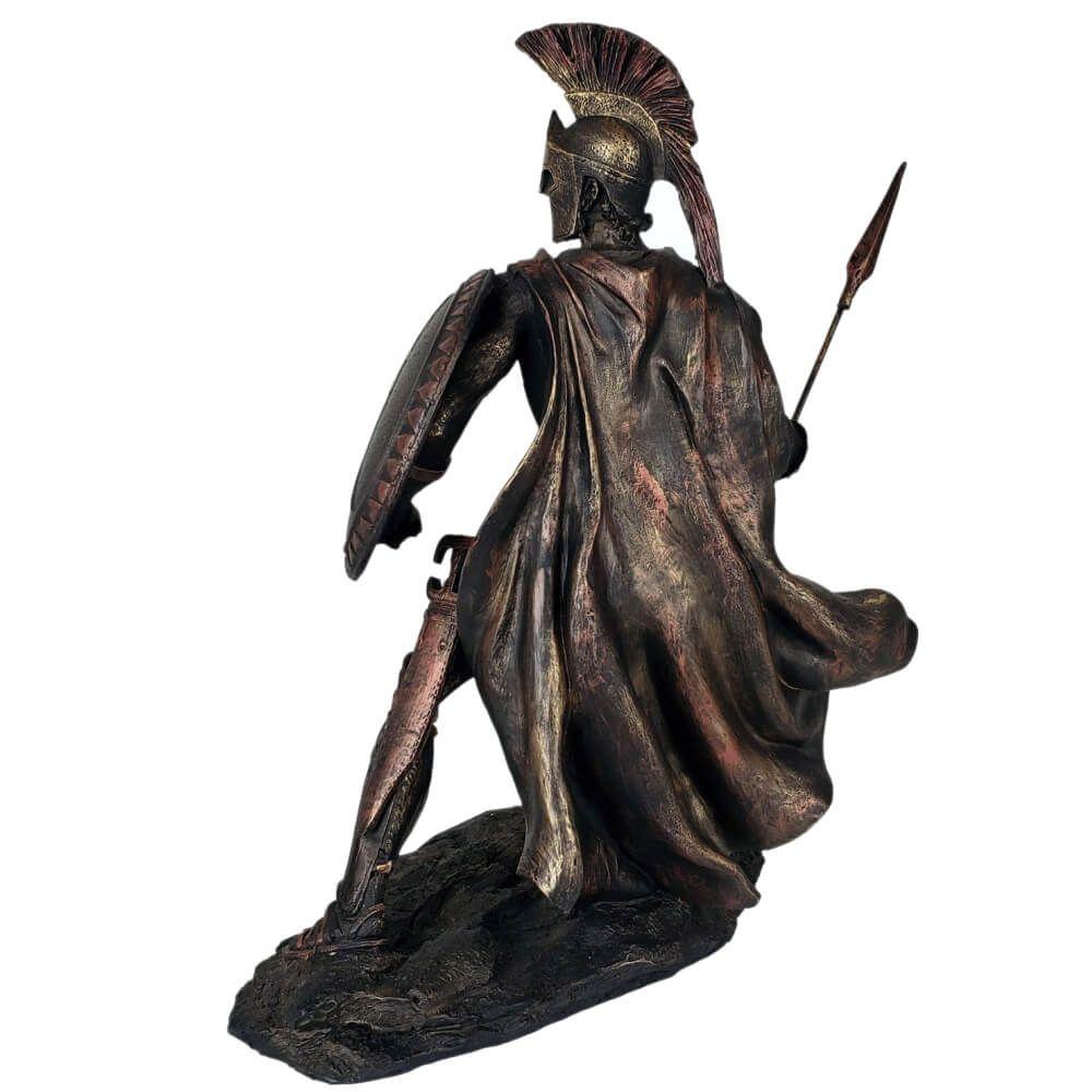 Escultura Rei Leônidas de Esparta Cor Bronze.