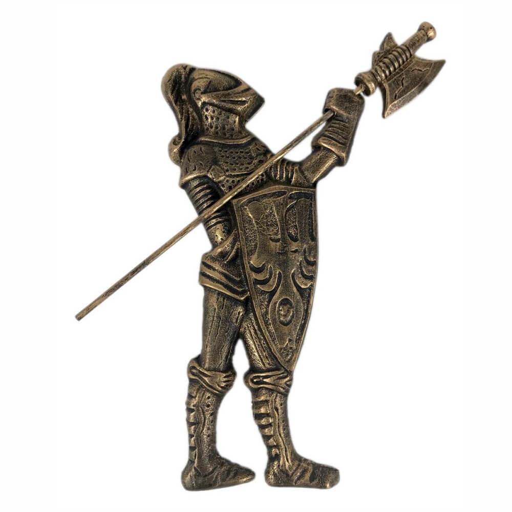 Escultura Soldado Guerreiro medieval de parede Decorativo.