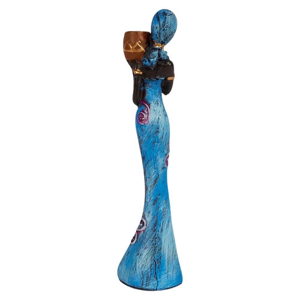 Estatua Africana decorativa Com Vaso Pequena