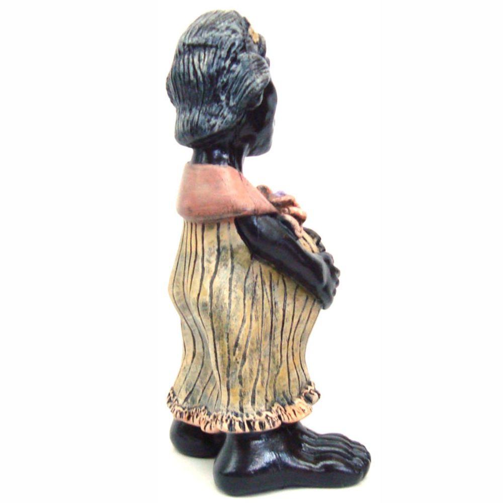 Estátua Africana grávida decorativa Grande