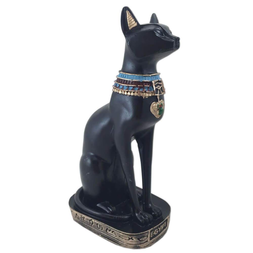 Estátua deusa Bastet Bast Ubasti Ba-en-Aset ou Ailuros gato egito.