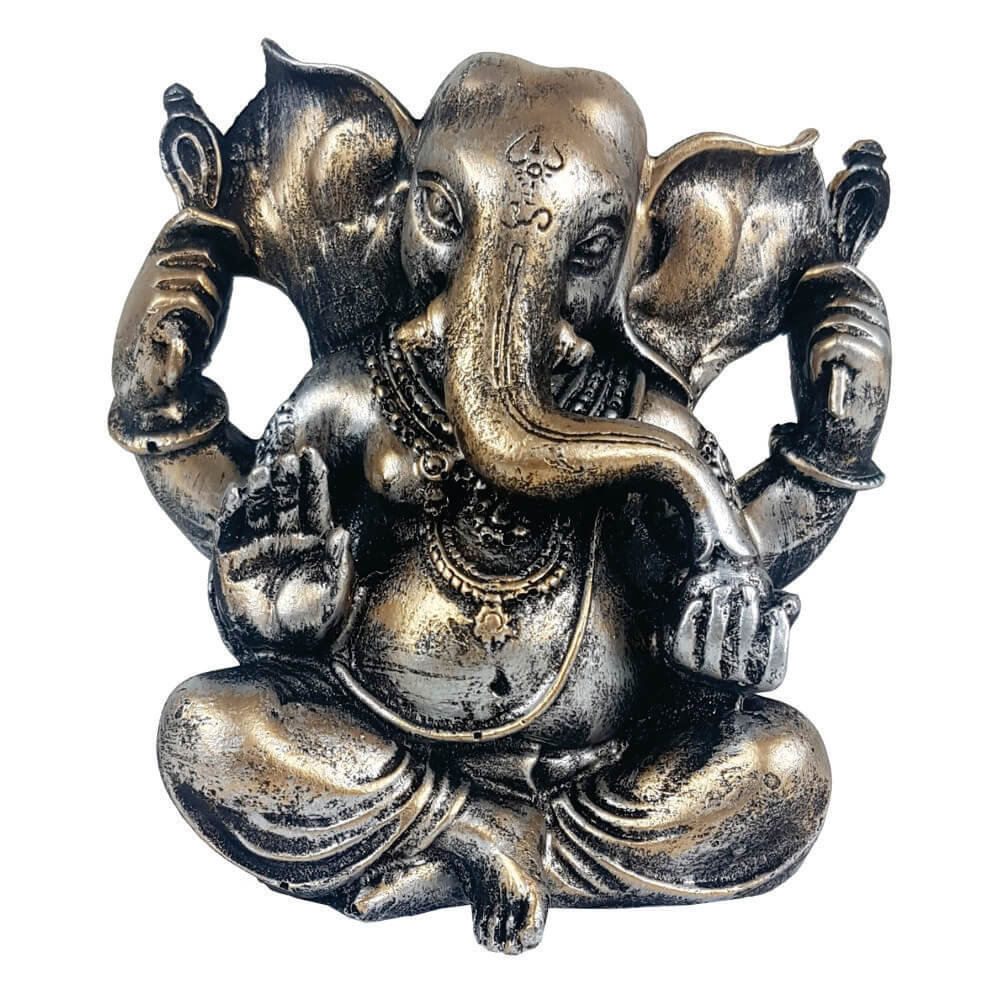 Estátua Ganesha médio cor estilizada