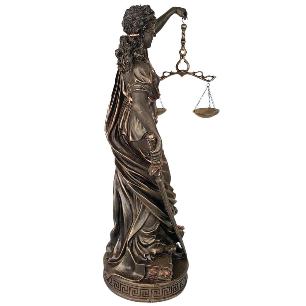 Estátua Thêmis Deusa Da Justiça Balança Gigante 63 cm