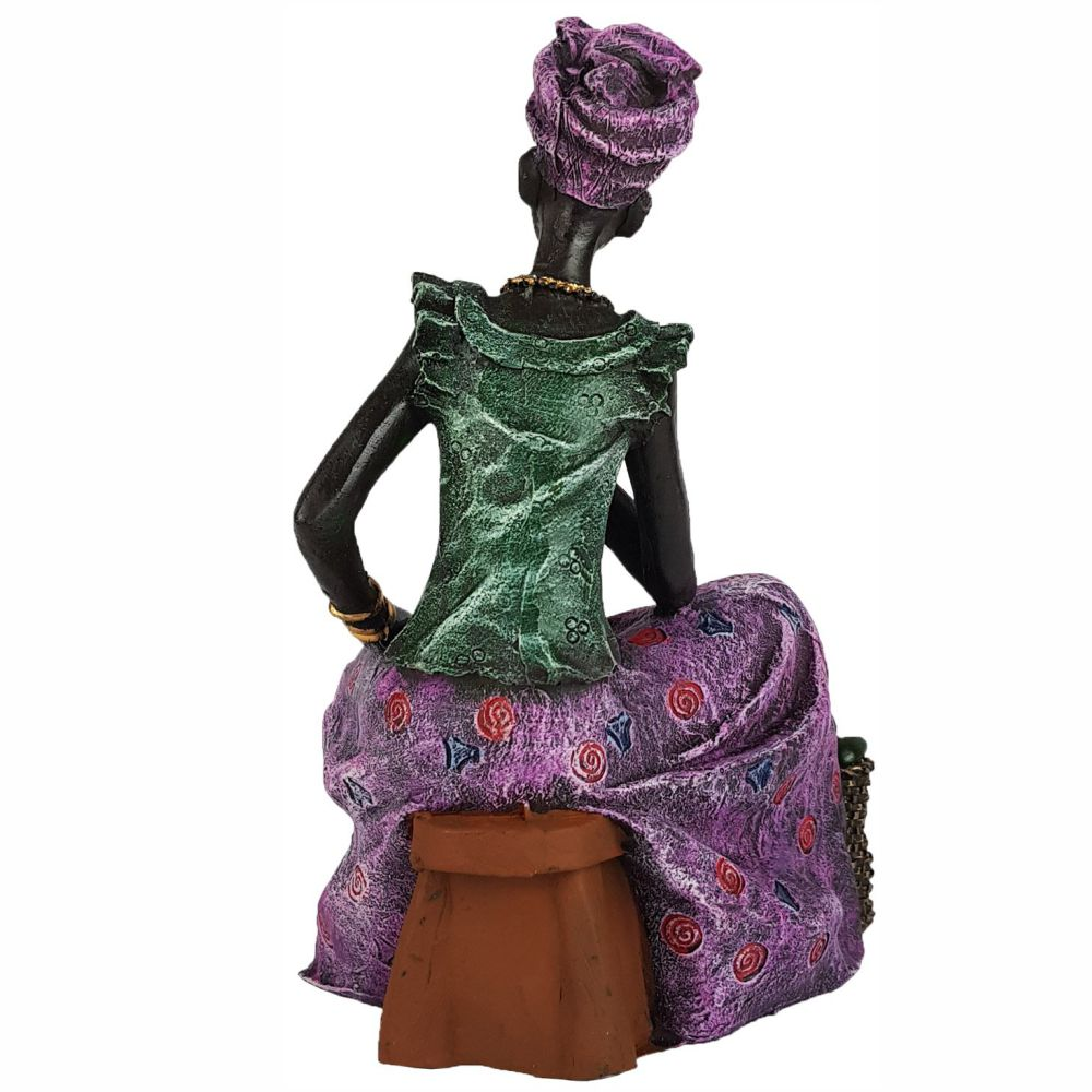 Estatueta Africana decorativa Sentada Grande