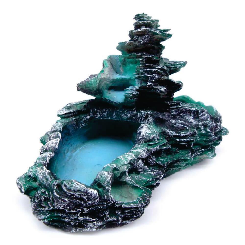 Fonte de água Cascata decorativa Laguinho tipo pedra Verde