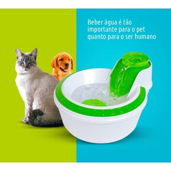 Fonte Bebedouro para gato ou cachorro com filtro Clássica Verde