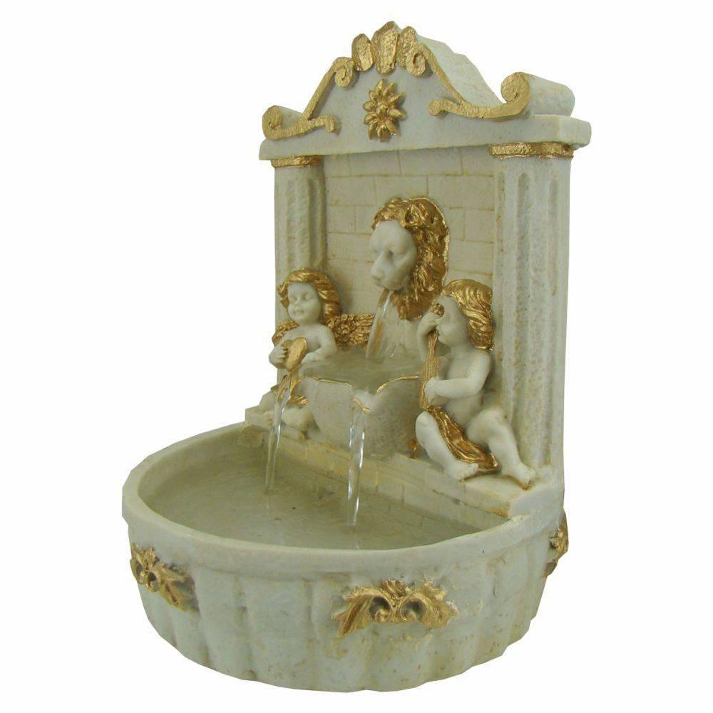 Fonte de água Anjos e Leão Bica chafariz.