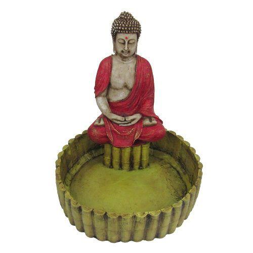 Fonte De Água Buda Tibetano Lago Grande 110 V.