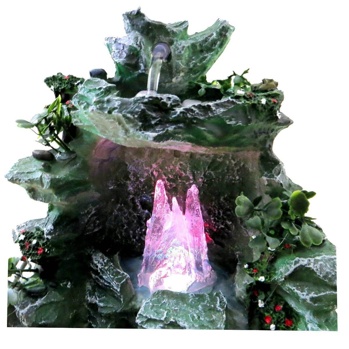 Fonte De Água Cascata cristal Com Luz colorida Prime.