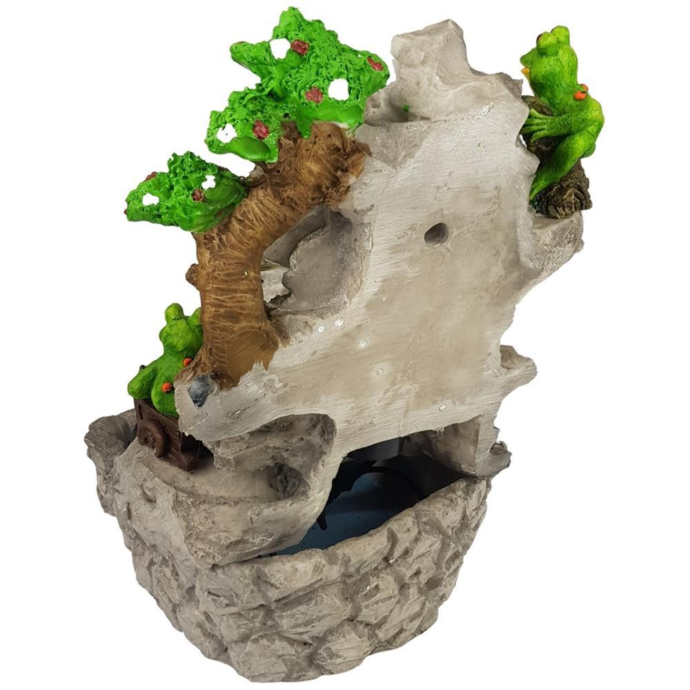 Fonte De Água Cascata cristal Com sapos e Luz colorida Prime