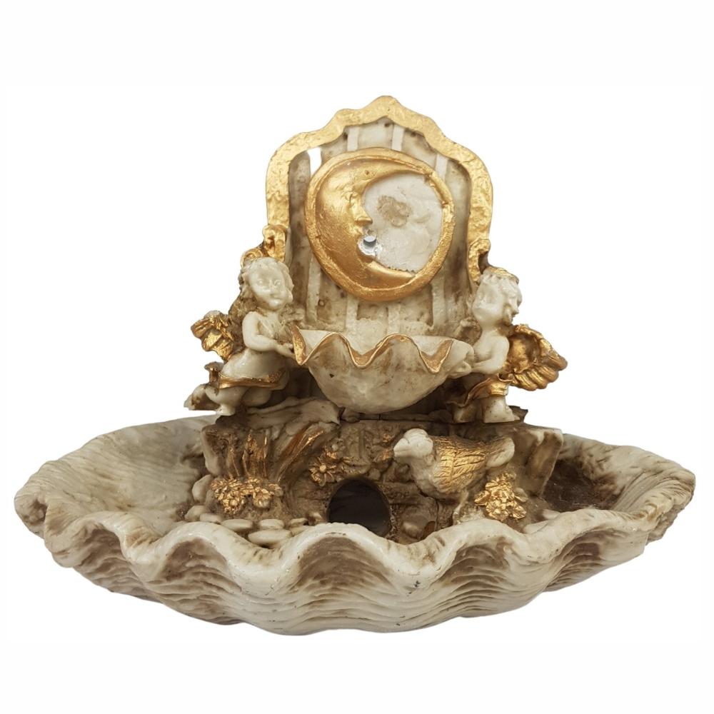 Fonte de água lua Anjos ao Luar decorativa completa