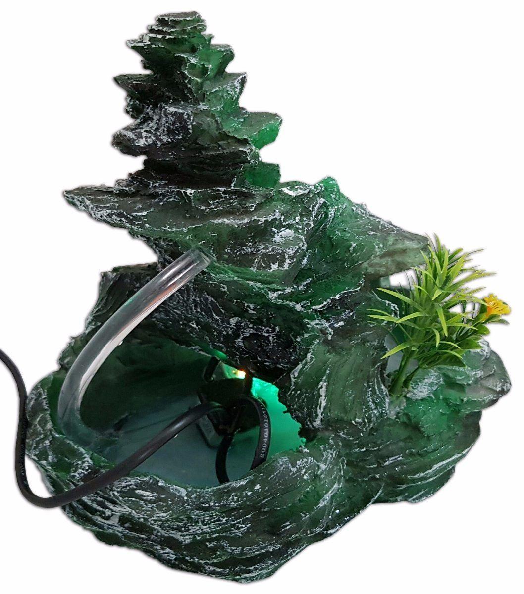 Fonte de água Pedra e Cascata luz e roda da água 110 V