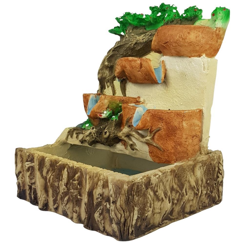 Fonte de água raízes natureza cascata grande 127 e 220 V