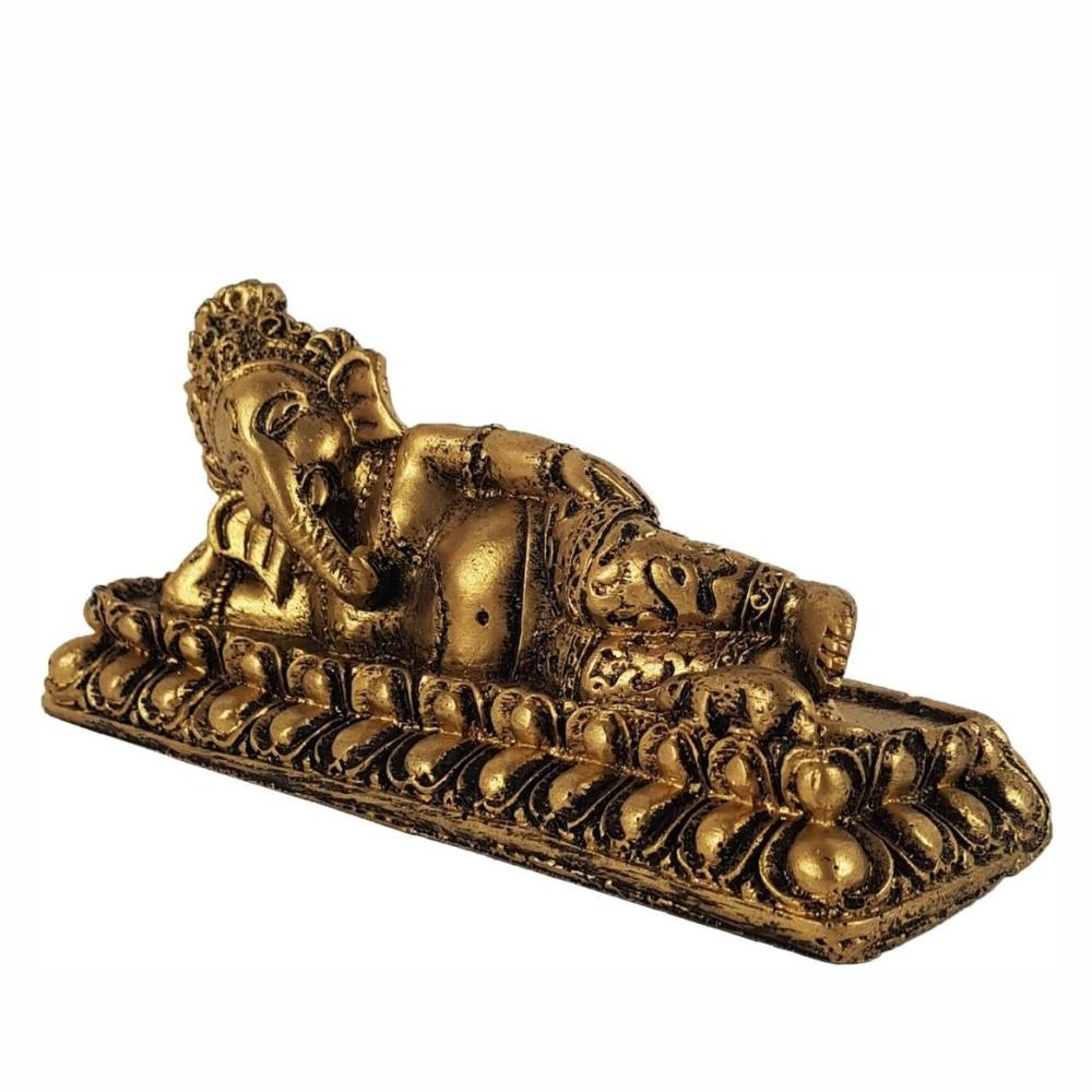 Ganesha Deus Da Prosperidade Deitada Estatueta Estatua