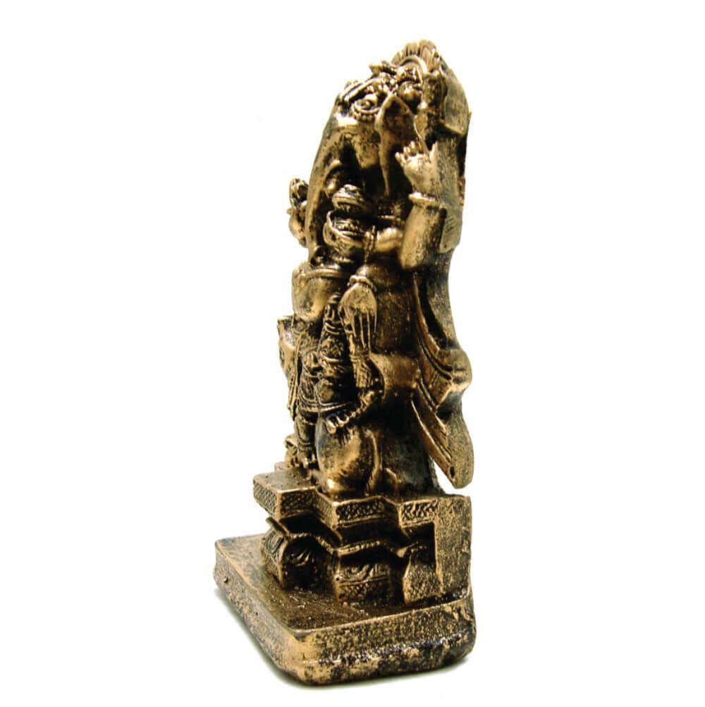 Ganesha Em Pé cor ouro envelhecido.