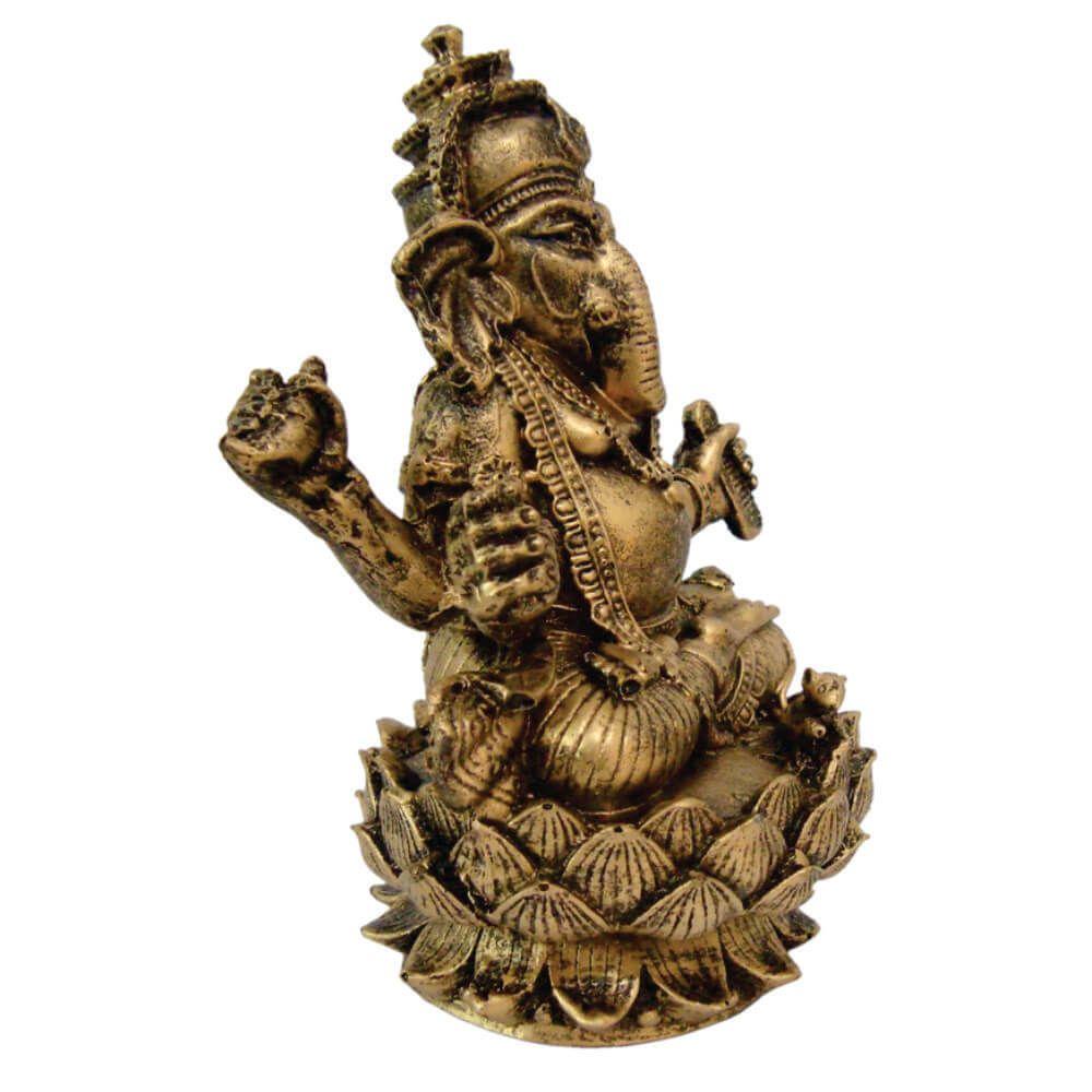 Ganesha flor de Lótus cor ouro.