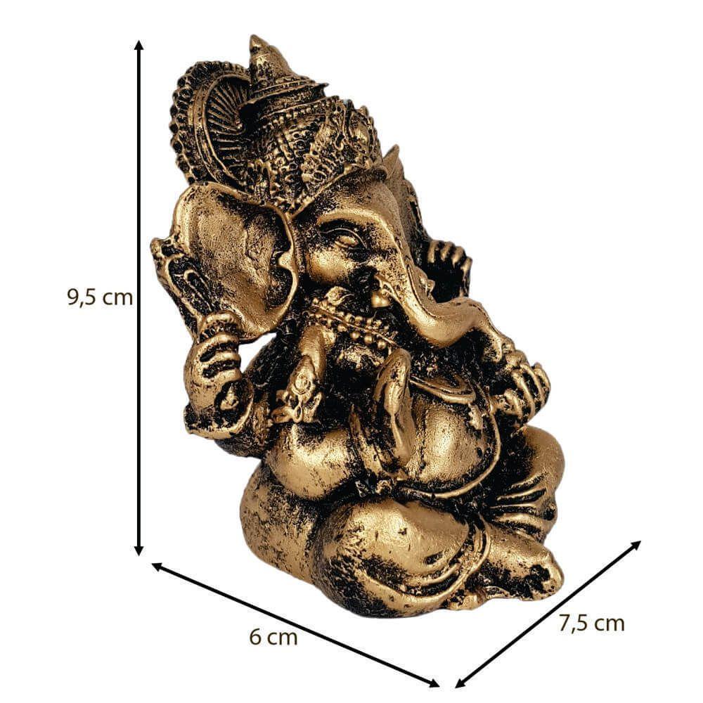 Ganesha Pequeno cor ouro.