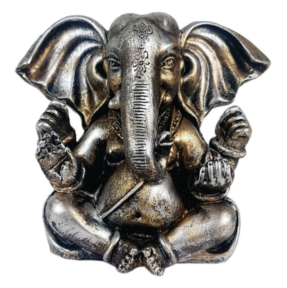 Ganesha sentado orelhudo cor estilizada.